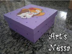 Art's Nêssa - Artesanato: Caixa Cadelinha de chapéu (lilás/violeta)