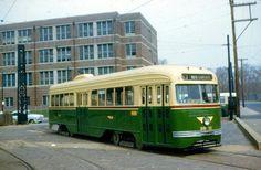 PTC  PCC  Trolley  at  10th&Luzerne
