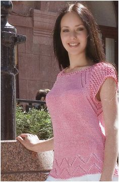 Free Knitting Patterns - Top with Lace Edging Crochet Lace Dress, Crochet Poncho, Crochet Top, Ravelry Crochet, Filet Crochet, Knitting Patterns Free, Knit Patterns, Free Knitting, Poncho Tops