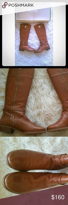 Michael Kors leather boots Beautiful Brown Michael Kors leather Boots little signs of wear Michael Kors Shoes Winter & Rain Boots