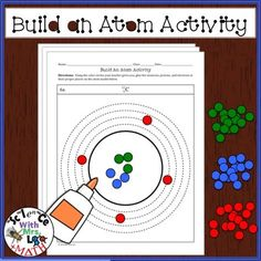 FREE Build an Atom Activity! Students use colored circles made from a hole puncher (punched before class) and glue them to create atom models.