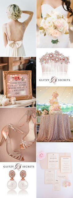 beautiful rose gold and blush wedding ideas