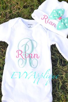 Love these colors together for newborn girl sets.