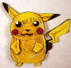 Paper Quilling Pikachu - 025 by wholedwarf Quilling Images, Quilling Designs, Quilling Ideas, Pokemon For Sale, Quilling Cake, Quilling Animals, Rakhi Design, Pokemon Craft, Quilled Paper Art