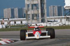 Alain Prost (Mclaren-Honda) 2ème grand Prix du Brésil - Jacarepaguá 1989.