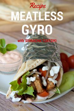 Meatless Gyro w #Sri