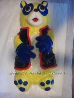 Coolest Oso Cake... This website is the Pinterest of birthday cake ideas