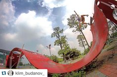Instagram #skateboarding photo by @dima_davydov90 - Bs. Flip  @klim_budanov_ #china #skate4life #skateboarding #skatetrip #guangzhou #bestmoment. Support your local skate shop: SkateboardCity.co