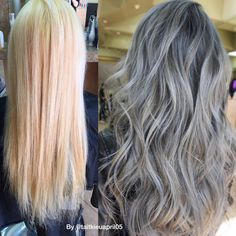 TRANSFORMATION: Bleached Out To Dimensional Blue/Gray   Modern Salon
