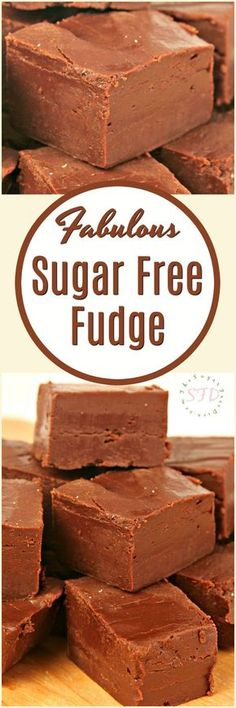 Enjoy this Fabulous sugar free fudge recipe that is simple to make as well. This fudge is delicious and it has not added sugar to the recipe. -- You can find more details by visiting the image link. Sugar Free Deserts, Sugar Free Sweets, Sugar Free Candy, Sugar Free Cookies, Sugar Free Recipes, Recipe For Sugar Free Fudge, Simple Fudge Recipe, Sugar Free No Bake Desserts, Sugar Free Snacks
