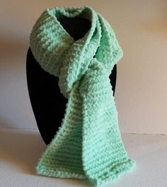 Donation to Operation Homes for Heroes - Mint Ultra Soft Chenille Hand Knitted Scarf - Free Shipping by HomelessStore on Etsy