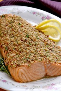 Heart-Healthy Walnut Crusted Salmon