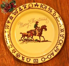 True West Christmas plates  sc 1 st  Pinterest & Boots and Saddle Western Ranch Style Cowboy Dinnerware Dishes by ...