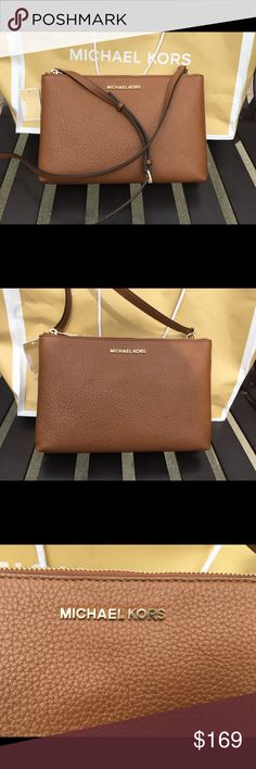 38ae2f863688 Michael Kors Brown Double Gusset Handbag Purse NWT Trendy and versatile  piece. Double and separate compartments. Brand new. Retail$228 Michael Kors  Bags ...