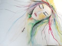 Colorful Watercolor Lady