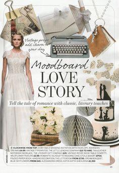 Vintage inspired wedding dress 'Rosa' decorated with fresh water pearl embellishment by KATYA KATYA SHEHURINA  Featured in Perfect Wedding Magazine
