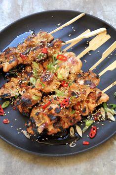Asiatiske kyllingspyd - Mat På Bordet