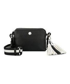 This Black & White Cierra Crossbody Bag is perfect! #zulilyfinds