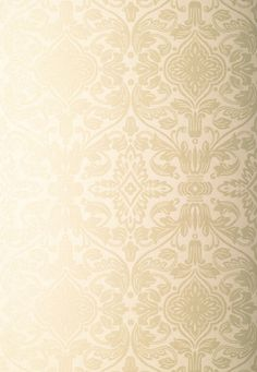 Wallcovering / Wallpaper | Varenna Damask in Sand | Schumacher