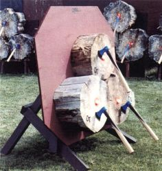 Throwing axes, tomahawks, knives, hatchets here in provides a more detailed description of each of the Chuckin Tomahawk slideshow pictures.