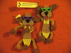 "Dogs made from wooden craft spoons  ""Dog Days of Summer"" themed swap"
