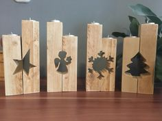 Candle holder – wood table DIY candle holder, # candle holder … - Famous Last Words Wooden Christmas Decorations, Christmas Wood Crafts, Christmas Projects, Christmas Crafts, Xmas, Deco Noel Nature, Scrap Wood Projects, Diy Projects, Wooden Candle Holders