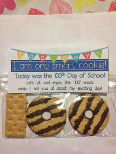 I'm one smart cookie-- Fun treat for the hundredth day of school! Crayons & Cuties In Kindergarten: The Day Finally Came!