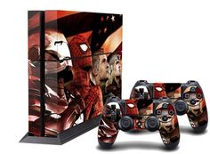 Super Heroes with Flag PS4 Skin Playstation 4