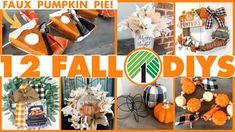 12 NEW Fall Dollar Tree DIYs for 2021 🍁 How to make Faux Pumpkin Pie Slices for Fall Decor! - YouTube Dollar Tree Pumpkins, Dollar Tree Fall, Dollar Tree Crafts, Fall Crafts, Halloween Crafts, Farmhouse Halloween, Faux Pumpkins, Fall Projects, Diy Box