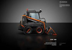 Painting of Road Construction Machinery by Alexey Maslov, via #Behance #Branding
