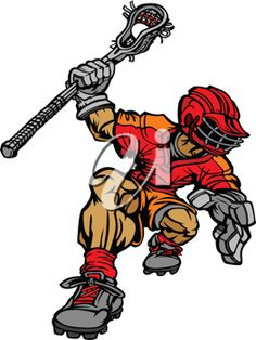 iCLIPART - Royalty Free Clipart Image of a Lacrosse Player