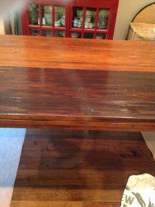 image8 Staining Furniture Darker, Gel Stain Furniture, Staining Wood Floors, Laminate Furniture, Staining Cabinets, Furniture Redo, Cabinet Refinishing, Refinished Furniture, Furniture Refinishing