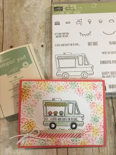 """Sale - A - Bration 2017 with Stampin' Up! *FREE* Stamper set """" Tasty Trucks"""" Visit my online store at: www.galem.stampinup.net or check out my blog at: www.thehappystamper.com"""