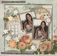 Home Is Where The Heart Is - single page from Paper Roses Scrapbooking ? Scrapbooking Layouts, Scrapbook Pages, Arts And Crafts, Paper Crafts, Multi Photo, Snowman Ornaments, Silent Night, Paper Roses, Where The Heart Is
