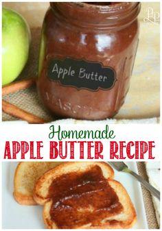 Simple Homemade Apple Butter Recipe -- serious yum!  applebutter | apple butter recipe | how to make apple butter in a crockpot | crockpot apple butter  #applebutter #homemade #breakfastfood