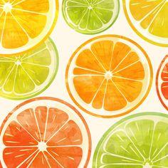 sunset fruit, illustration, watercolors, sara eshak, Stretched Canvas