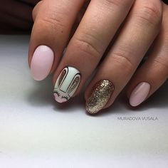 Nail art Christmas - the festive spirit on the nails. Over 70 creative ideas and tutorials - My Nails Love Nails, Red Nails, Pretty Nails, Easter Nail Designs, Nail Art Designs, Holiday Nails, Christmas Nails, Easter Nails, Dipped Nails