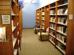 May 2012 - YA Expansion. The YA section is now on both side of this aisle!