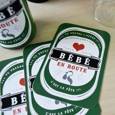 Idée d'annonce grossesse vraiment originale: étiquette à coller sur bouteille de bière, à offrir à la famille pour annoncer un heureux événement.