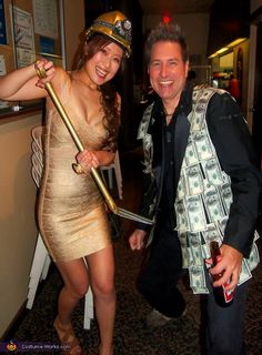 Michelle: This is our 2013 costume, Michelle Yu - Gold Digger, Scott Young - Sugar daddy.