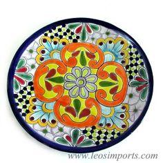 Mexican Pottery Print Ceramic Plates, Ceramic Art, Decorative Plates, Talavera Pottery, Ceramic Pottery, Mexican Folk Art, Mexican Tiles, Mexican Ceramics, Mexican Designs