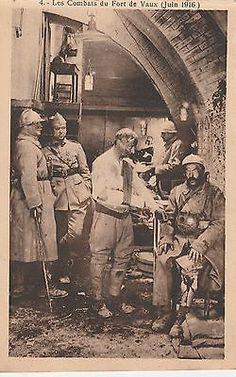 WWI, 1916; Les Combats du FORT DE VAUX (Juin 1916.)