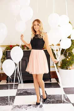 71a913c903 Lauren Conrad in an LC Lauren Conrad for Kohl's Dress and Heels Tulle Skirt  Dress,