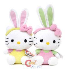 Sanrio Hello Kitty Plush Doll Set -6in Easter Bunny at Cutesense.com