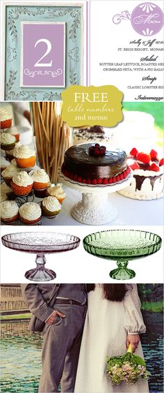 DIY, Do It Yourself, Table Numbers and Menus, Table, Numbers, Menu, print, templates, download