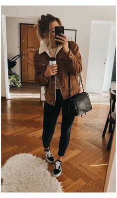 Trendy Fall Outfits, Casual Winter Outfits, Winter Fashion Outfits, Look Fashion, Autumn Fashion, Autumn Outfits, Comfy Winter Outfit, College Winter Outfits, Fall Outfit Ideas
