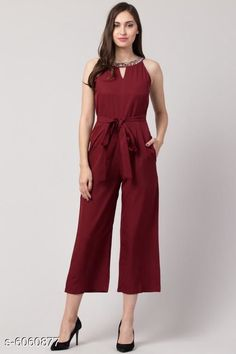 Checkout this latest Jumpsuits Product Name: *Diva Attractive Women's Jumpsuits* Fabric: Poly Crepe Sleeve Length: Sleeveless Pattern: Solid Multipack: 1 Sizes:  XS (Bust Size: 34 in, Length Size: 48 in, Waist Size: 26 in)  S (Bust Size: 36 in, Length Size: 48 in, Waist Size: 28 in)  M (Bust Size: 38 in, Length Size: 48 in, Waist Size: 30 in)  L (Bust Size: 40 in, Length Size: 48 in, Waist Size: 32 in)  XL (Bust Size: 42 in, Length Size: 48 in, Waist Size: 34 in)  Country of Origin: India Easy Returns Available In Case Of Any Issue   Catalog Rating: ★4 (525)  Catalog Name: Diva Attractive Women's Jumpsuits CatalogID_920558 C79-SC1030 Code: 927-6060877-3891