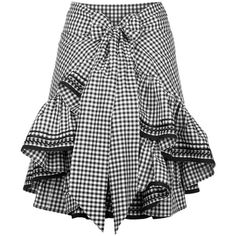 black gingham ruffle