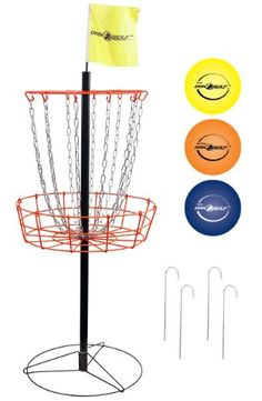 Golf Balls Ideas | Park  Sun Sports Portable FrisbeeDisc Golf Steel Target Goal with Basket Standard Set includes 3 Discs ** Want to know more, click on the image. Note:It is Affiliate Link to Amazon. #HighQualityBrandedGolfBalls