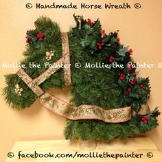 My Handmade Horse Head Wreath! www.facebook.com/molliethepainter